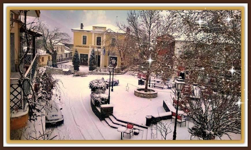 Δείτε γιατί η Σταυρούπολη είναι το πιο ωραίο χωριό και τον χειμώνα ...